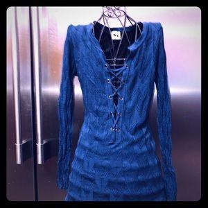 Missoni size 36 Blue Lace up front dress